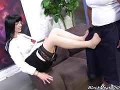 Beautiful Larkin Love Shares A Foot Fetish With A Black Guy