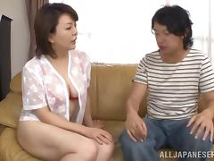 Japanese Mature, Asian, Blowjob, Couple, Cowgirl, Hairy