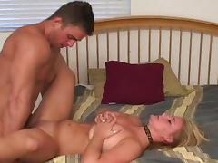 Muscular Alix fucks with a hardcore blonde West