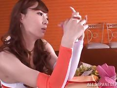 Arousing Kaede Fuyutsuki is a naughty teen Race Queen
