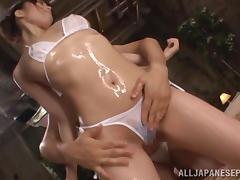 Hot Asian milf Misuzu Kawana in mini bikini is fucked hard