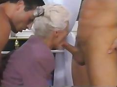 Grandma, Double, Granny, Mature, Old, Double Penetration