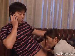 Busty Satou Haruka gets shared by needy males