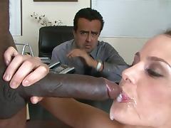 Bend Over, Big Tits, Black, Blowjob, Boobs, Facial