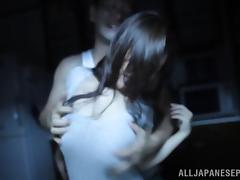 Hot Asian milf Karen Saijyou enjoys a rough rear fucking