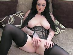 Corset, Big Tits, Blowjob, Boobs, British, Brunette