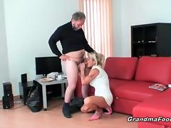 Sexy mature couple in hot action porn video