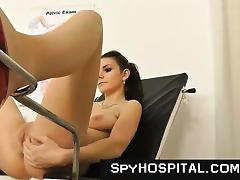 Hidden Cam, Amateur, Brunette, Doctor, Fetish, Gyno