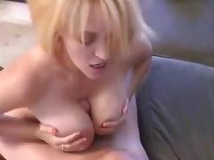 Big Titted Blonde MILF Fucked Hard