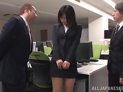 Japanese office girl gets her cunt licked and smashed indoors