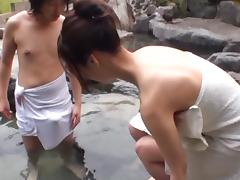 Sayuki Kanno is a busty Asian amateur fucking outdoors