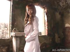 Sizzling Asian bitch gets her vag amazingly drilled in abandoned house
