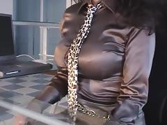 Fetish, Fetish, Masturbation, Office, Secretary, Satin