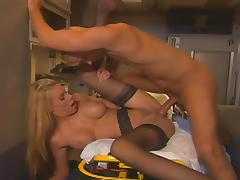 Police, Beauty, Big Tits, Blonde, Blowjob, Facial