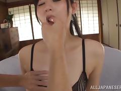 Vibration games for a sensual Japanese angel