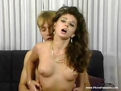 Juicy, Brunette, Couple, Cum in Mouth, Cumshot, Juicy