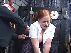 Dildo and vibrator please the pussy and ass of redhead