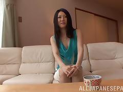 Mayumi Chikazawa naughty Asian milf gets a cock ride