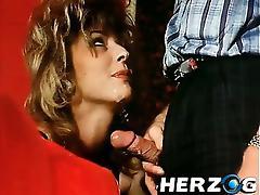 Hairy retro ladies love getting a big dick inside