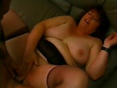 Fat mom with hairy cunt, wide ass & man