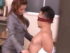 Mistress, Asian, Blowjob, Boobs, College, Cumshot