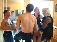 Mom and Boy, Blonde, Group, Mature, Orgy, Russian
