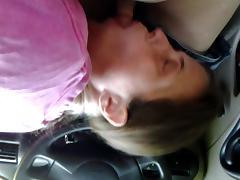 Miss L Sucks my cock in the car