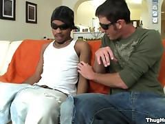 Striking Danny Brooks Has Interracial Gay Sex Over A Couch