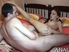 Ecstatic anal plowing for cute beautiful babe