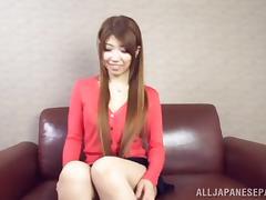 Yuuka Minase lovely Asian babe gets cum on big tits
