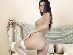 Wet, Babe, Big Tits, Bodystocking, Boobs, Brunette