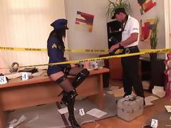 Police, Anal, Blowjob, Cop, Couple, Cowgirl