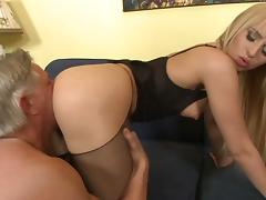 Old and Young, Anal, Blonde, Couple, HD, Lingerie
