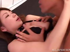 Big boobed Asian babe Yuuka Minase is hardcore