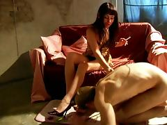Smoking Mistress's Feet Worshiped