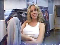 Penis, Audition, Big Cock, Big Tits, Blonde, Blowjob