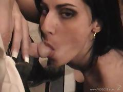Curvy Nina Rome gives a blowjob and enjoys ardent doggys tyle sex