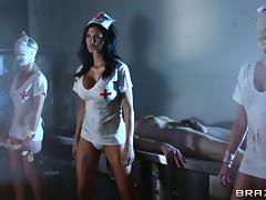 Jasmine Jae is fucked silly by a guy as she's dressed as a nurse