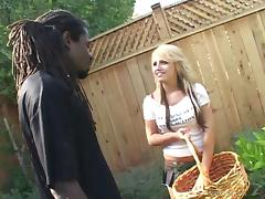 Delightful Jacky Joy Goes Hardcore Doggystyle With A Black Boy