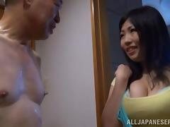 Old and Young, Amateur, Asian, Bath, Bathing, Bathroom