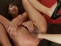 Hot lesbian anal licking and fisting