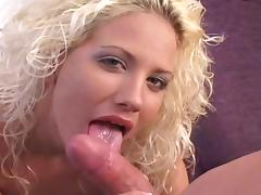 All, Blonde, Blowjob, Curly, Tattoo, Trimmed Pussy