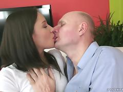 Myrna Joy is eaten out and fucked by an old man