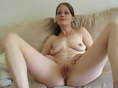 Shaved Pussy, Amateur, Brunette, Masturbation, Outdoor, Sofa