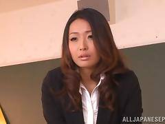 Miwako Yamamoto sexy and horny teacher gets after school sex