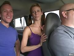 Steven Ponce and Jessie Lee have a nice pastime in the car
