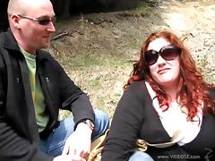 Two bitches Monika Maple and Jennifer Van Beaver have fun outdoors