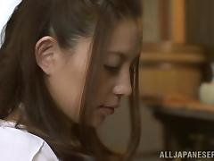Ruka Kanae is eaten and masturbated before blowing an old man