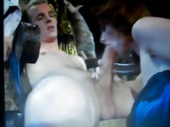 hot blond dude having his huge cock sucked