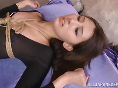 Rumi Kamida naughty Asian doll in mmf bondage sex